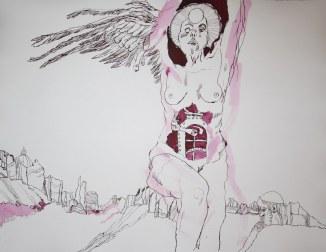 Die Götzen kommen - 65 x 50 cm (c) Zeichnung von Susanne Haun