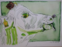 Sehgewohnheiten der Kleinsten – Die Kuh - Version 1 (c) Collage von Susanne Haun