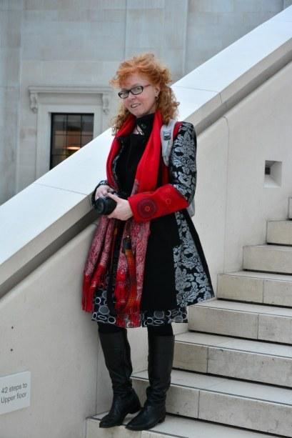 Susanne im British Museum (c) Foto von M.Fanke