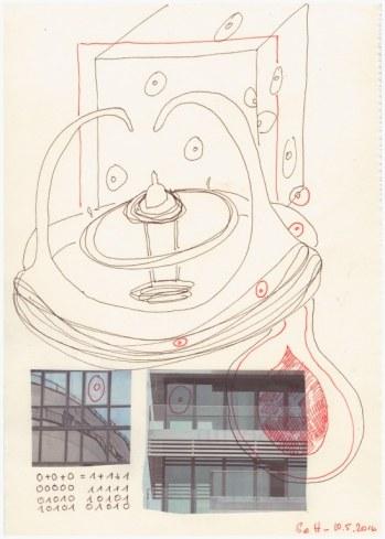 #57.1 Nullraum in den Fängen der Nullkralle (c) Zeichnung von Susanne Haun