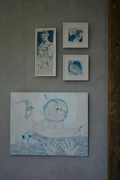 Susanne Hauns Arbeiten in der Ausstellung RaumZeitBegegnung (c) Foto von M.Fanke