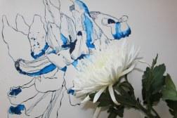 Detail Chrysamtheme (c) Foto und Zeichnung von Susanne Haun