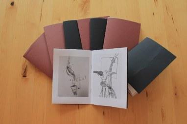 Präsentation unserer Arbeit wegschütten im Künstlerunikatbuch (c) Foto von Susanne Haun