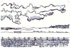 Die Küste Englands - 10 x 15 cm (c) Zeichnung von Susanne Haun