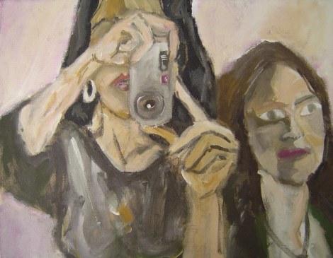 Der Augenblick - Juli 2006 - 70 x 100 cm - Acryl auf Leinwand (c) Gemälde von Susanne Haun - Sammlung Claudia Jahnke