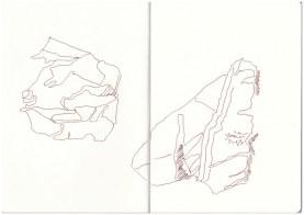 Zerknülltes Staniolpapier (c) Zeichnung von Susanne Haun