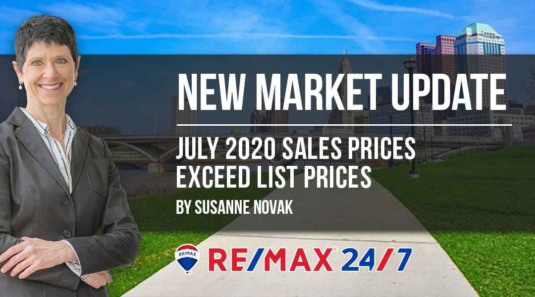 Market Update July 2020: Sales Prices Exceed List Prices