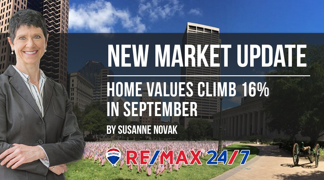 Market Update: Home Values Climb 16% in September