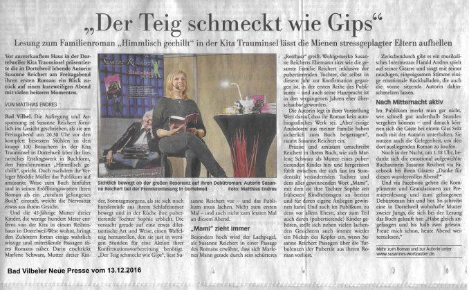Bad Vilbeler Neue Presse vom 13.12.2016