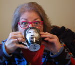 Susan Sipping Coffee-150w