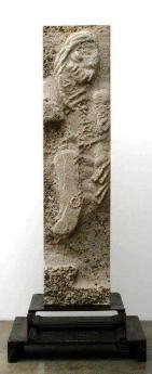 """""""The Man From Somewhere"""", 2007, Concrete and Steel, 80""""H x 32.5""""W x 23""""D"""