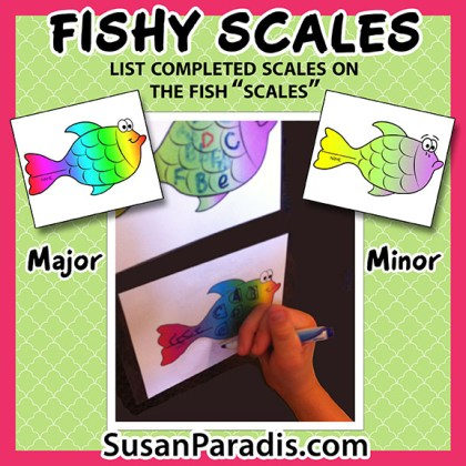 Fishy Scales - Susan Paradis Piano Teaching Resources