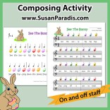 Easter Bunny Composing Activity