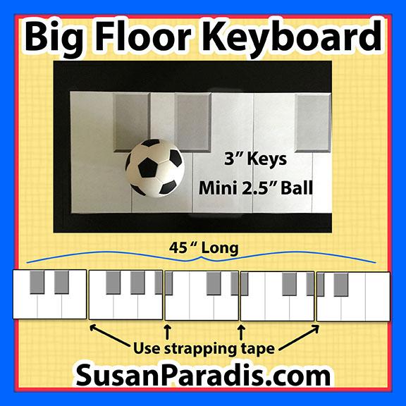 graphic relating to Printable Piano Keyboard identify Significant Printable Tunes Keyboard - Susan Paradis Piano