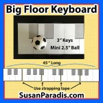 Large, printable music keyboard for piano students