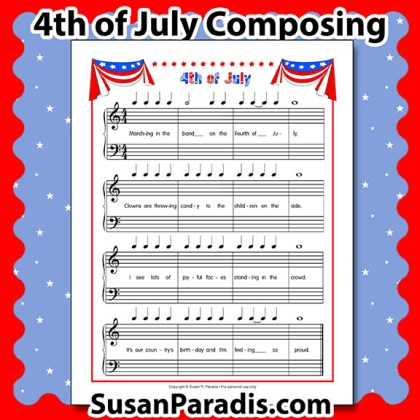 Fourth of July Composing Activity