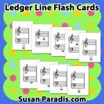 Ledger Line Flash Cards
