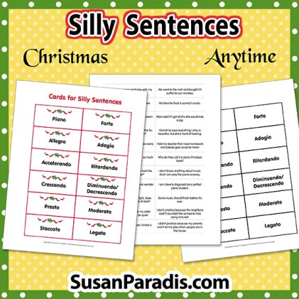 silly sentences susan paradis piano teaching resources. Black Bedroom Furniture Sets. Home Design Ideas