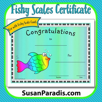 Fishy Scales Certificate