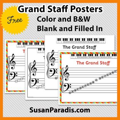 Grand Staff Printable Set