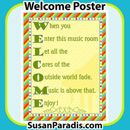 Welcome to the Music Room Poster
