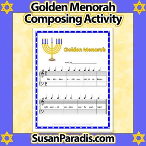 Golden Menorah Composing Activity