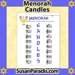 Menorah Candles Worksheet