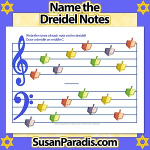 Name the Dreidel Notes