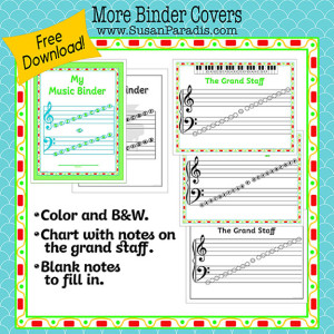 Grand Staff Binder Covers and Using Binders in Music Lessons ...