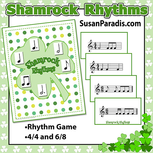 Shamrock Rhythms - a fast game for 4/4 and 6/8