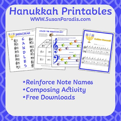 Hanukkah Music Printables