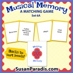 A memory game for music vocabulary level 6