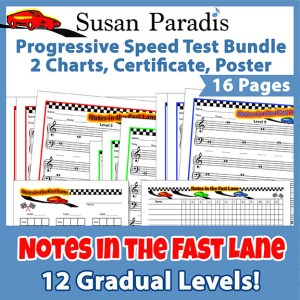 Set of 12 levels to learn the notes on the grand staff
