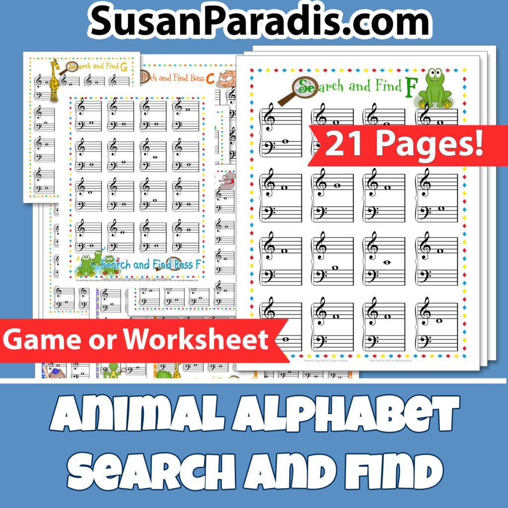Animal Alphabet Search And Find Bundle