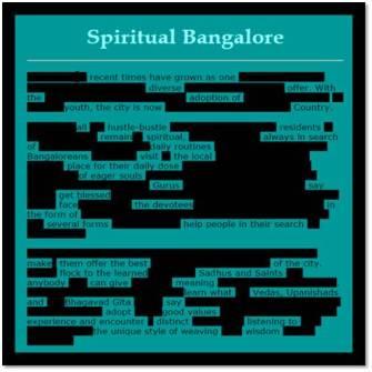 Spiritual Bangalore | Susan Powers Bourne