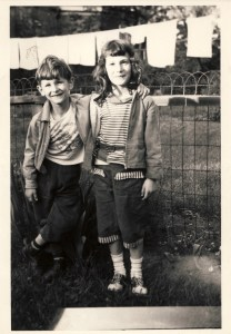 Susan Rosenthal - My brother and me, 1957