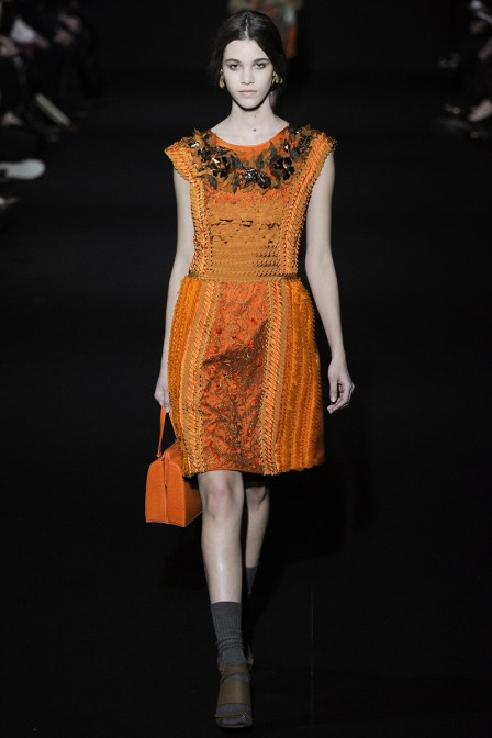 "Alberta Ferretti Fall 2014 RTW. ORANGE is ""Red-Hot"" This Fall"