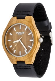 Wooden watch from with leather band from Woodie Specs, only $69!