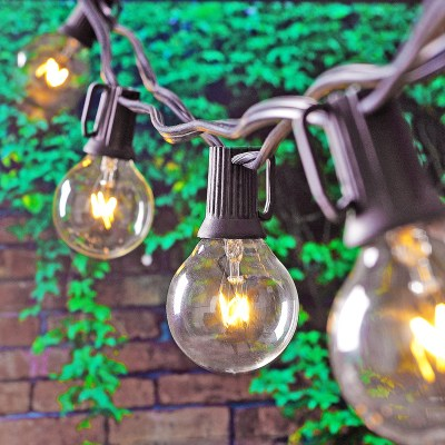 The perfect outdoor lighting! French cafe globes are vintage chic