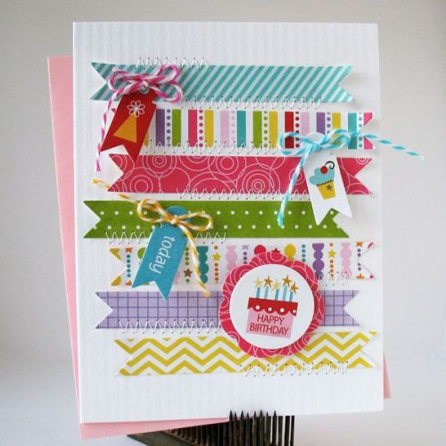 Washi tape card and invitation ideas
