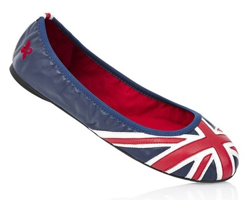 Union Jack ballet flats from Butterfly Twists are foldable! Only $60