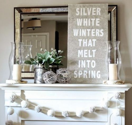 Post Christmas January Decor: it's a Silver and White Winter Wonderland