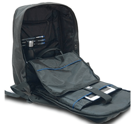 The Urbanite Laptop Travel Backpack by SoChiO has super padding and many safety features. It's a new fave!