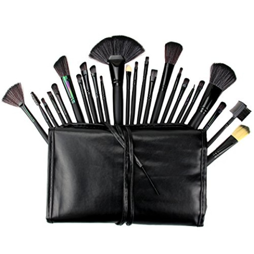 Makeup brushes, 24 piece set by E-Beauty is only $13.99