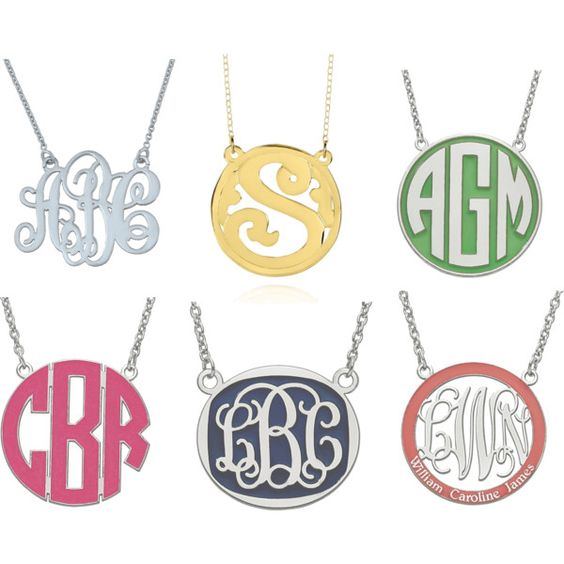 A monogram makes it yours. Best monogrammed jewelry!