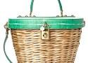 wicker wover rattan straw handbag spring