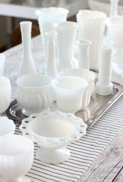 How is milk glass produced