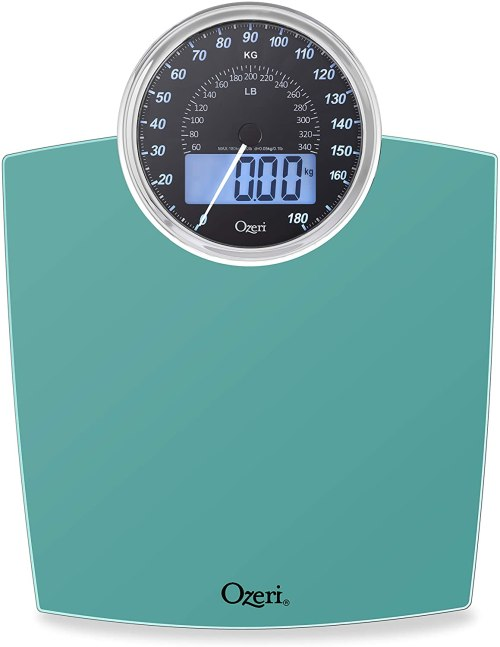 Ozeri Bathroom Scale is a stylish must have for the bath.