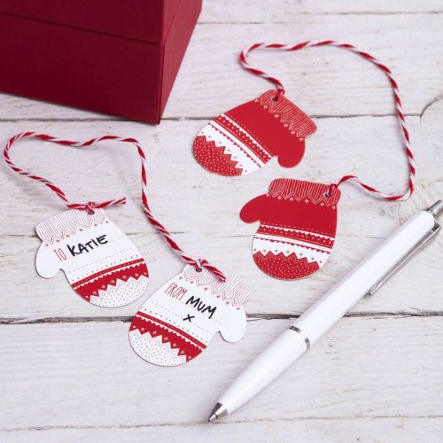Create gift tags from old Christmas cards for an eco friendly alternative to new tags