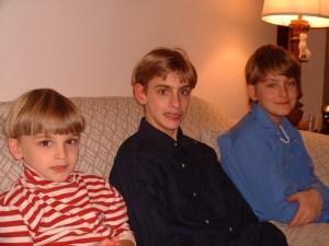 Ben, Nat, and Max sat.